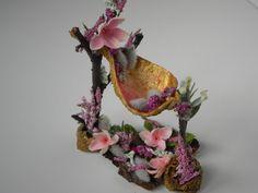 Hammock fairy bed. Fairy garden. fairy furniture by TinkerWhims