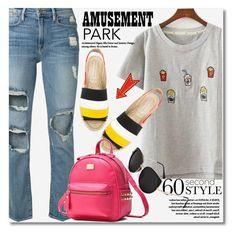 """60-Second Style: Amusement Park"" by svijetlana ❤ liked on Polyvore featuring Frame, STELLA McCARTNEY, 60secondstyle and zaful"