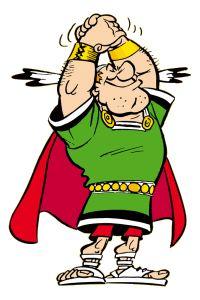Cassius Ceramix  The «Gallo-Roman» leader who dares to challenge Vitalstatistix in a now legendary duel between chiefs  Citizenship : Gallo-Roman  French name : Aplusbégalix  German name : Augenblix  Dutch name : Nogalfix  Spanish name : Prorromanix  Portugese name : Amaisbêigualaix