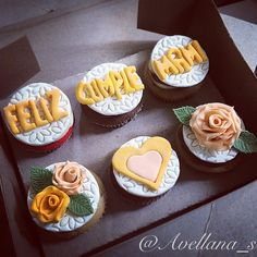 Cupcakes para madres con rosas