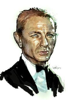 James Bond - Daniel Craig by Leinil Yu