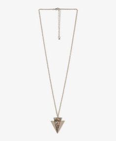 Iridescent Arrowhead charm necklace, $4.80