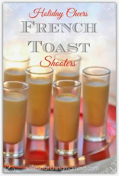 Keeping Spirits Bright ~ French Toast Shots The most requested cocktail from the bar! Bailey's, Butterscotch and Goldschlager!