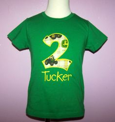 tractor, truck birthday party | Trucks & Transports :: Birthday John Deere Shirt Personalized Tractor ...