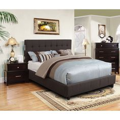 Invitingly simple yet functional, this delightful bedroom set showcases a beautiful button tufted bed with handy Bluetooth speakers on both sides. This set is sure to set the atmosphere for a great night!