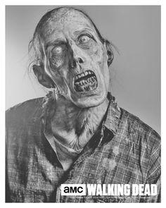Walker Print  The Walking Dead  Stephen Vining  TWD