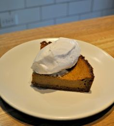 Squash Pie with Coconut Whipped Cream - from True Food Kitchen, Denver