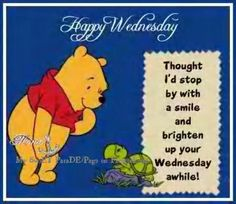 Happy Wednesday!  This cute little guy is for my daughter, Jessica.  She loves Pooh!  Make it a wonderful day everyone!