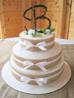Rustic Wedding Cake Topper  Personalized by RusticDesignsByAmie, $30.00