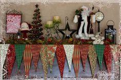 love this Christmas mantle! click through to see instructions on how Kristy Banks made it.
