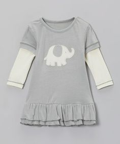 Take a look at this Dove Elephant A-Line Dress - Infant by Silkberry Baby on #zulily today!