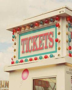 Carnival ticket booth summer pastel 8 x 10 photograph - etsy Carnival Tickets, Carnival Rides, Vintage Carnival, Vintage Circus, Magical Girl, Circo Vintage, Fun Fair, Circus Theme, County Fair