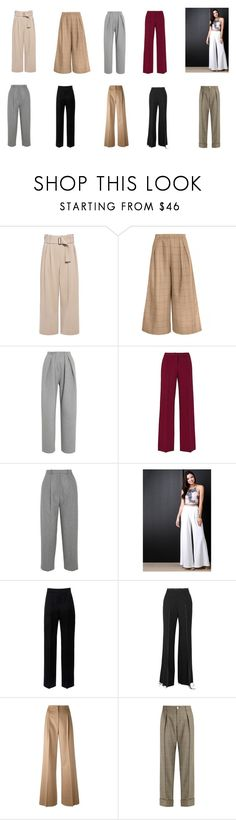 """Натуральный стиль: брюки"" by gala-bell ❤ liked on Polyvore featuring A.L.C., Vika Gazinskaya, Acne Studios, Lanvin, Calvin Klein Collection, MaxMara and Gucci"