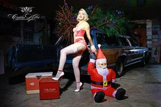 """Frau Pepper for the """"Girls & legendary US-Cars"""" 2016 calendar by Carlos Kella / SWAY Books. Limited and numbered to 2016 pieces. Get one of the last pieces: www.sway-books.de"""
