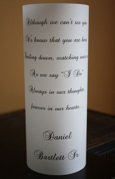 Memorial Candle Luminaria by thepaperynook on Etsy, $3.00