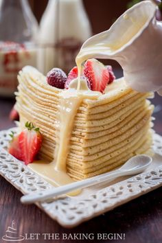 Crepes - one special trick and these crepes become virtually tear free ...