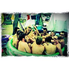 #photoadayMAY - fun! 13 in a blow-up toddler pool at Flat Rock (NSW) camping ground, yes it was fun trying to fit us all in :)