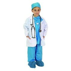 With this Blue Jr. Physician Costume , the doctor is always in. Consists of a professional white lab coat, with official medical insignia, and a miniature Toddler Costumes, Halloween Costumes For Kids, White Lab Coat, Junior Doctor, Doctor For Kids, Doctor Costume, Dress Up Costumes, Costume Ideas, Carnival
