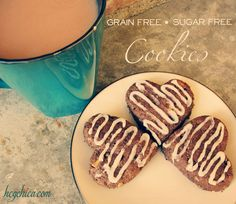 Grain free Sugar Free cookies recipe with Icing! Nut free, low carb, perfect for P3 hcg diet dessert.