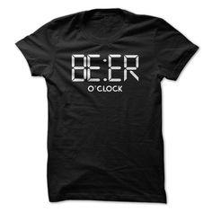 BEER O'clock funny t shirt for men #beer #drinkbeer