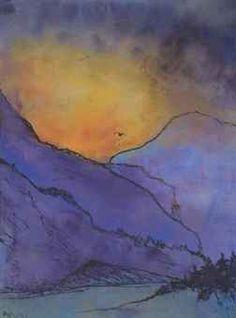 Violette Berglandschaft Nolde