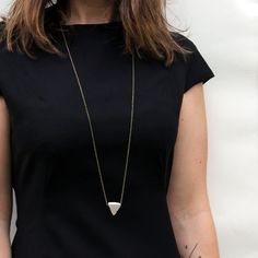 concrete triangle necklace / geometric concrete by sloanandtommy, $40.00