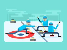 Curling winter game by Anton Frizler (kit8) for Kit8