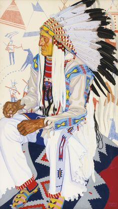 MIKE LITTLE DOG, 1927, Winold Reiss (1886-1953), gouache and pastel on board, 52.25 x 30.27 in.