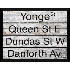 Shop for Toronto Street Names Giclee Wood Wall Decor. Toronto Street, Street Names, Acrylic Wall Art, Wood Wall Decor, Distillery, Wood Art, Large Posters, Poster Prints, Home And Garden