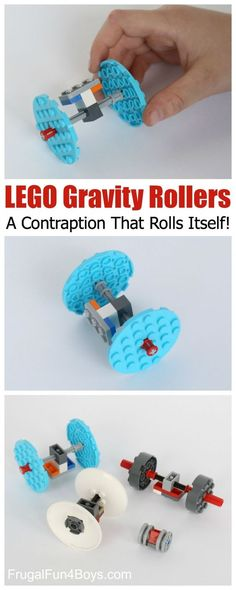 LEGO Gravity Rollers: A Fun Contraption That Propels Itself! Fantastic STEM project for kids.