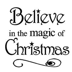 Amazon.com: Believe in the Magic of Christmas 12x12 vinyl wall art decals sayings words lettering quotes home decor: Home & Kitchen