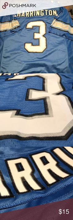 e2213035598 Detroit Lions stitched jersey NWOT Joey Harrington jersey Size large All  lettering and numbers are stitched