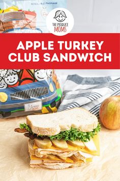 Crunchy and juicy this apple turkey club sandwich is exactly what your lunch menu has been missing. Whether you are packing this for school, work or a road trip this delicious sandwich recipe is easy to make and family friendly! Grab this recipe and make something tasty today! Wrap Recipes, Fruit Recipes, Lunch Recipes, Burger Recipes, Easy Recipes, Turkey Club Sandwich, Lunch Menu, Lunch Box, Picnic Sandwiches