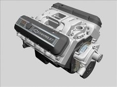 Chevrolet Big Block V8 Engine 3D Model-   When big is good, bigger is better.  Here is the Chevrolet big block V8 engine, specifically the 502 cubic inch variation, though visually could be any of the 396 and up displacements.  Nicely detailed with a mix of Gen IV and Gen V specifics.  Valve covers consist of 3 objects each, making material  texture application a breeze.  Works well with my Holly carburetor and Muncie transmission found elsewhere on this site.  Dimensionally correct within…
