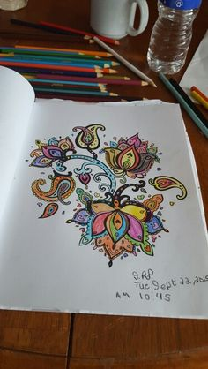Flowers Paisley I Color From The Colorama Coloring Book