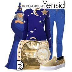 Yensid by leslieakay on Polyvore featuring Chinti and Parker, Balmain, Vans, Mi-Pac, Disney and Social Anarchy