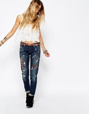 Denim & Supply By Ralph Lauren Painted Relaxed Skinny Jeans