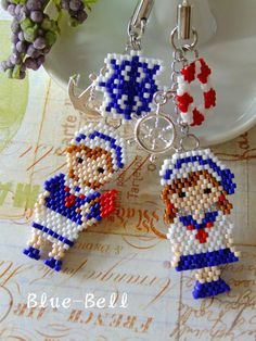 Seed Bead Jewelry, Seed Bead Earrings, Beaded Jewelry, Bead Embroidery Jewelry, Beaded Embroidery, Peyote Patterns, Beading Patterns, Bead Crafts, Jewelry Crafts