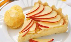 Torta de maçã de micro-ondas