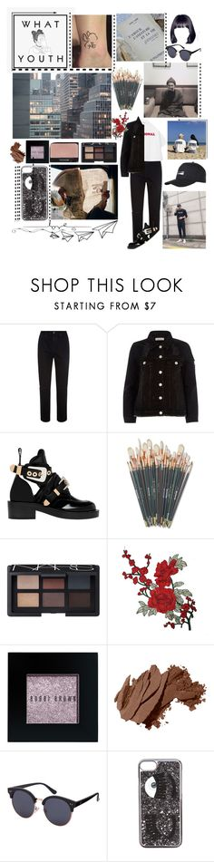 """""""RM💓"""" by v-bts8486 ❤ liked on Polyvore featuring AG Adriano Goldschmied, River Island, Balenciaga, Disney, NARS Cosmetics, Bobbi Brown Cosmetics, Chiara Ferragni and Superdry"""