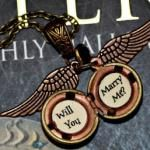 Oh my gosh. How cute is this???? A golden snitch proposal.