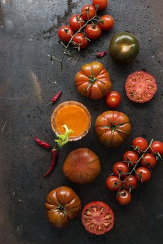 """Tomato soup or SOPA DE TOMATE """"BLOODY MARY""""."""