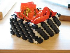 Lego candy dish- thinking we can make a pencil cup instead :)
