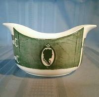 Vintage Royal China Colonial Homestead Gravy Boat Green Transferware