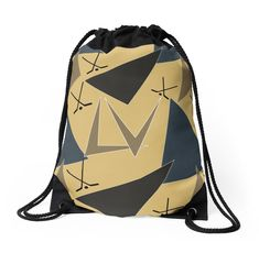 "* Carry your belongings in this drawstring backpack. Wide, soft drawcord that's easy on your shoulders, and a nice size (15.5″x 19.5″) for a day trip! * ""Retro-Style Hockey Team Colors"" Drawstring Bags by #Gravityx9 
