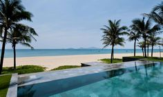 The stunning all villa resort located on pristine Hoi An Beach features sixty one-bedroom retreats as well as forty privately owned two-to-five bedroom residences each with a private infinity pool