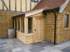 Timber Framed Porches and Wooden Porches in Leicestershire Side Porch, Porch Swing, Side Door, House With Porch, House Front, Sas Entree, Porch Extension, Porch Kits, Enclosed Porches