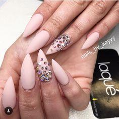 Pink stiletto with rhinestones