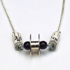 sewing necklace found object jewelry sewing ...