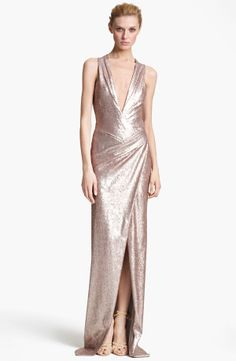 Long Collection Sequin Gown